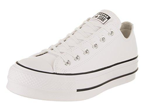 Converse Chuck Taylor CTAS Lift Clean Ox, Zapatillas Mujer, Blanco (White/Black/White 102),...