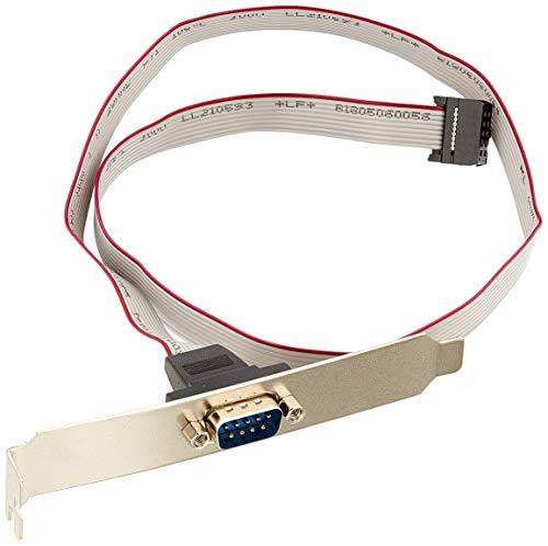 InLine 33208B Serielles Slotblech, 9-pol Stecker an 10-pol Buchsenleiste, 1:1, 0,6m