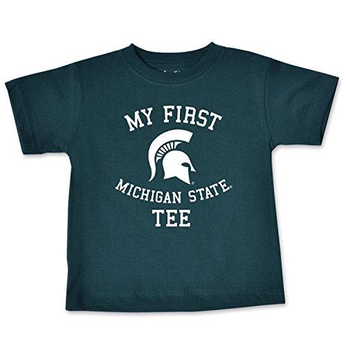 College Kids NCAA Michigan State Spartans Infant Short Sleeve Tee, 18 Months, Dark Green
