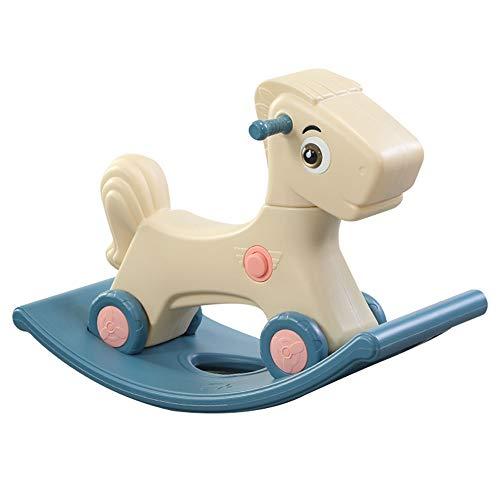 FZJDX Baby Kinder Schaukelpferd 0-3 Jahre Baby Indoor Ride on Toys 2 In 1 Multifunktions-Schaukelpferd und Rollerspielzeug