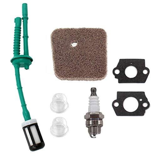 AISEN Filtre à air pour Stihl FS38 FS45 FS46 FS55 FS55R FS55RC HS45 HL45 KM55 avec pompe d'amorçage + filtre à carburant + tuyau d'essence + bougie d'allumage
