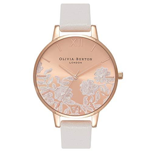 Olivia Burton Lace Detail Blush Rose Gold Dial Ladies Watch