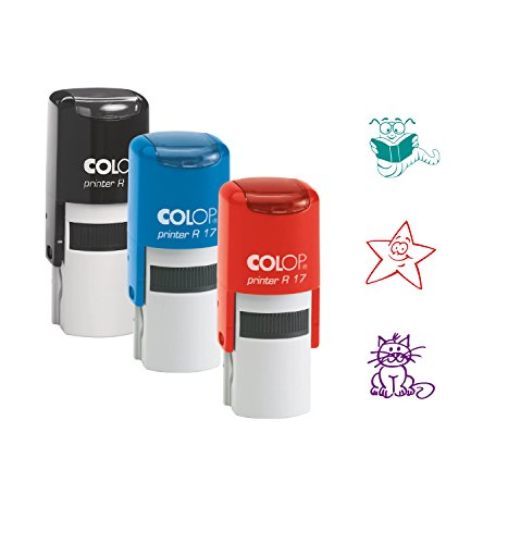 COLOP Stempelset Motivation Schulstempel: 3 Stempel 3 Motive 3 Farben