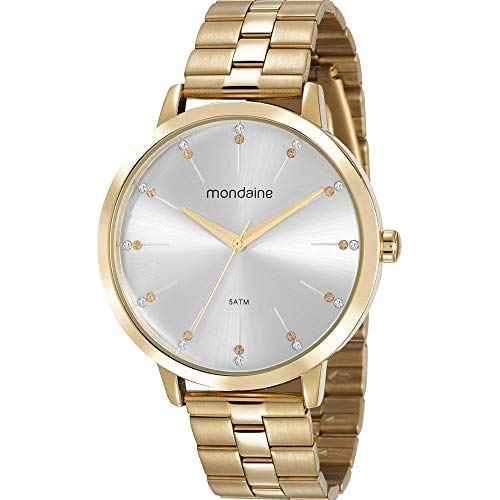 Relógio, Analógico, Mondaine, 53659LPMVDE1, feminino, Dourado