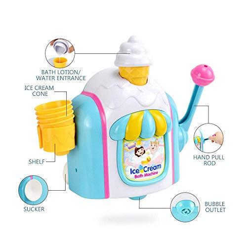 Roebii Schaum Baby Badespielzeug, Spielzeug Eismaschine Schaumblase Spielautomat Dusche Baby Kinder Spielzeug Für Kleinkinder & Kinder Wasserspiel In Der Badewanne Oder Im Pool