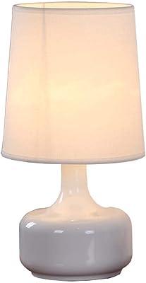 Lámpara LED con temporizador, color blanco, 19 cm de altura ...