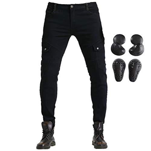 Takuey Pantalones de equitación para hombre y mujer, pantalones de protección para motocicleta, para caballero, hockey, moto, armadura