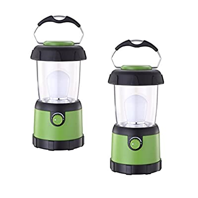 ZZD 2 Pack LED Camping Lantern Lights Water Resistant Small Lantern Flashlight Emergency, Hurricane, Outage(4AA Battery Powered)