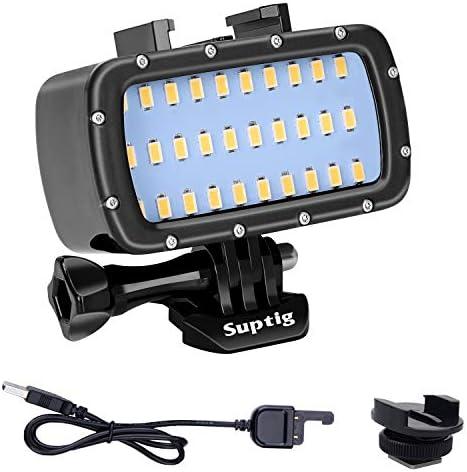 Suptig 30 LED Video Light Waterproof Light Underwater Light Compatible for Gopro Hero 9 Hero product image