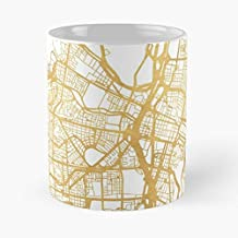 Medellín Colombia City Street Map Art Classic Mug -11 Oz Coffee - Funny Sophisticated Design Great Gifts White-situen.