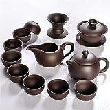 JSJJAUJ Juego de té Hecho a Mano Pot Infuser Tea Pot Set Set 150ml Porcelana China Púrpura Hervidor de Arena Cups (Color : Style 6 Suit)