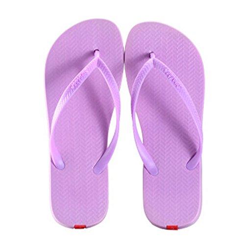 Casual Tongs Unisexe Plage Chaussons Anti-Slip Maison Slipper Sandals Violet