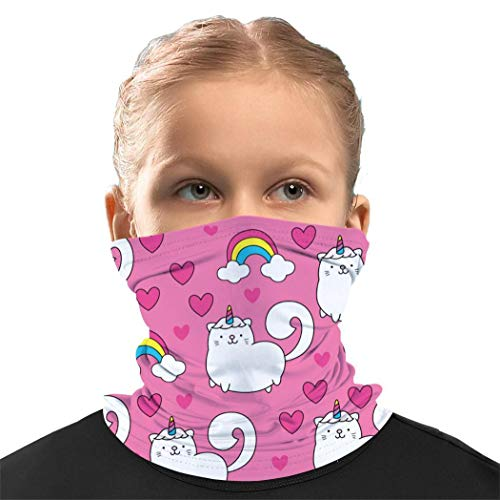 Unicorn Cat Kids Balaclava Face Mask Neck Gaiter Bandanas Scarf headwear For Boys Girls