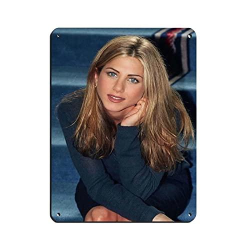 Filmskådespelare, regissör, filantropist Jennifer Aniston global sexig kvinna brev 6 canvas affisch väggkonst dekor tryck bildmålningar för vardagsrum sovrum dekoration vit stil 112 × 16 tum (30 × 40 cm)