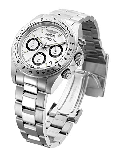 Invicta Men's 9211 Speedway Collection Stainless Steel Chronograph Watch with Link Bracelet
