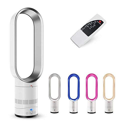 Arsui Ventilador sin aspas de 40,64 cm portátil silencioso ventilador de aire de pie – Ventiladores sin aspas con control remoto para el hogar, oficina, dormitorio