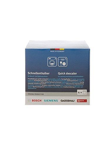 Bosch, Siemens, Neff, Gaggenau Entkalker Schnellentkalker für Waschmaschinen und Spülmaschinen 00311923 (4x)