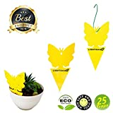 LIGHTSMAX Sticky Fruit Fly and Gnat Trap Yellow Sticky Bug Traps for Indoor/Outdoor