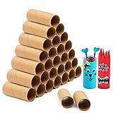 Handi Stitch Rollo Carton (Pack de 30) - 10cm Tubo Carton Marrón - Resistentes Tubos de Papel Suministros Manualidades para Niños Creatividad Salón de Clases