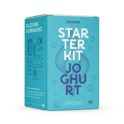 Fairment Starter Kit Joghurt – mit Joghurtbereiter und Zubehör - bekannt aus der Höhle der Löwen - Joghurt selber machen