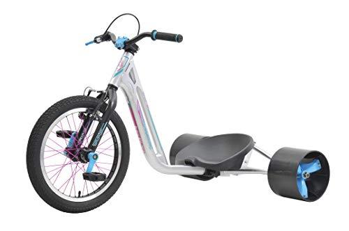 Triad Drift Trikes Counter-Measure 2 Velo Mixte Enfant, Argent/Bubble Gum