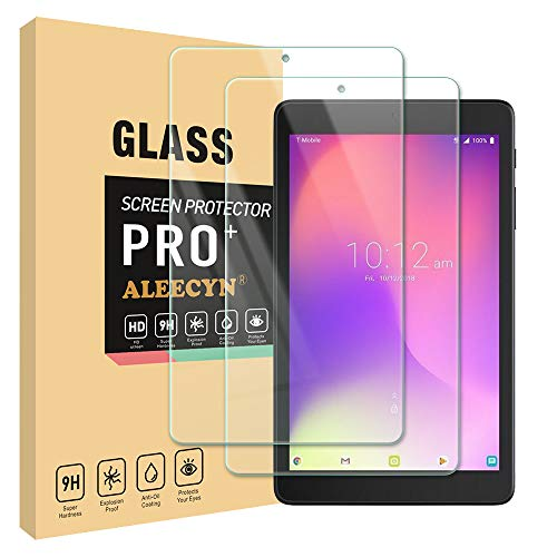 [2 Pack] Alcatel Joy Tab/Joy Tab Kids/Alcatel 3T 8 Inch Screen Protector, 9H Hardness, Anti-Scratch, High Definition, Tempered Glass Screen Protector for Alcatel 3T 8 Tablet 2018 (8.0 Inch)