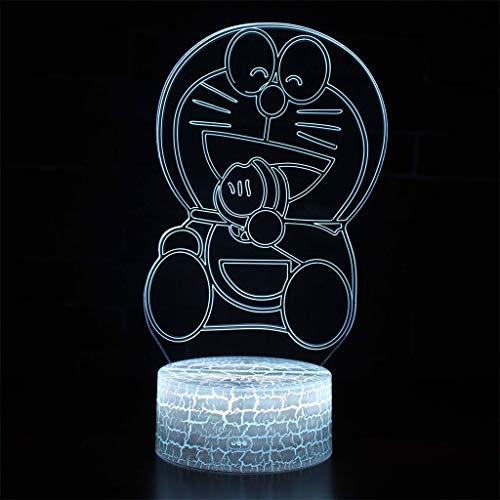 Lumière décorative LED/Veilleuse 3D Phantom, Décoloration 7, toucher/Télécommande, base de fissure, panneau acrylique, base en ABS, câble USB, pour barres, clubs