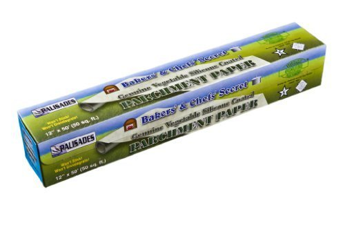 """Genuine Vegetable Silicone Coated Parchment Paper 12"""" X 50' (50 Sq. Ft.)"""