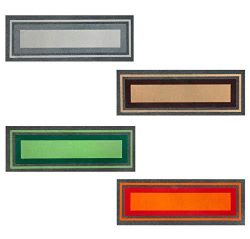 ARREDIAMOINSIEME-nelweb Zerbino Gomma Antiscivolo 25x70 Antiscivolo Moderno Porta Entrata Interno Esterno MOD. FLOMAT SALVAGRADINO Grigio (A)