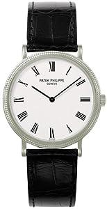 Patek Philippe Calatrava White Dial 18 kt White Gold Mens Watch 5120G
