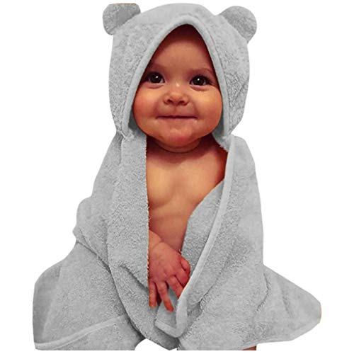 """WFRAU Neugeborenes Einfarbige Kapuzen Bademäntel Kleinkinder Jungen Mädchen Ärmellos Flanell Handtuch Swaddle Winter Babyschlafsack Nachtwäsche Schlafanzug,Größe 72X97cm/28.3""""X38.2"""""""