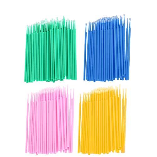 Micro applicateur brosse 400pcs coton jetable cils nettoyage bâton micro brosse pinceau coton cils lumière