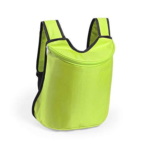 Original – Mochila isotérmica nevera impermeable, ultraligera y resistente, 10 L, ideal para botellas | picnic, playa, senderismo, camping (verde)