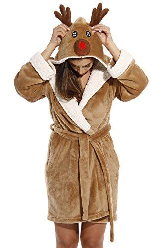 6366-Reindeer-M Just Love Critter Robe / Robes for Women