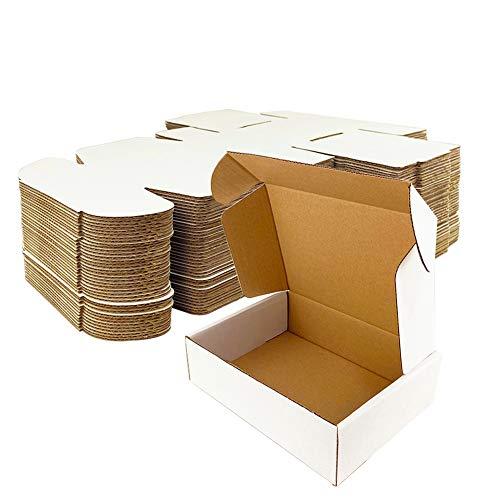 Giftgarden Caja de Cartón Craft 15.3x10.2x7.6 cm,Color Blanco,Cajas de Carton para Envíos Corrugado,25 Unidades