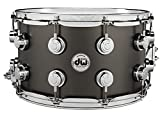 DW Collector's Series Metal Snare Drum - 8 x 14 inch - Satin Black Over Brass