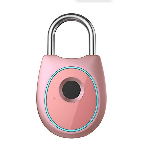 CBA BING Vingerafdruk hangslot, Biometrisch vingerafdrukslot, Geschikt voor huisdeur, rugzak, koffer, fiets, sportschool, kantoor, vingerafdruk zonder sleutel