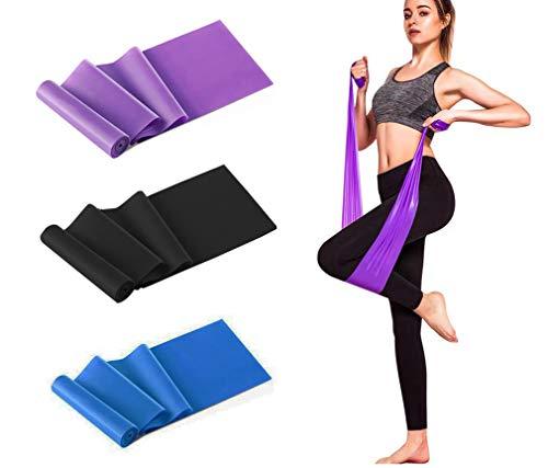Fitnessbänder 3er-Set für Fitness, Reha, Gymnastik und Physiotherapie | Leicht | Medium | Stark - Fitnessband Trainingsband Gymnastikband, Für Männer & Frauen