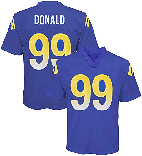 Aaron Donald Los Angeles Rams NFL Youth 8-20 Navy Home Mid-Tier Jersey (Youth Medium 10-12)