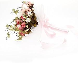 FUNAN Gorgeous Free-form Satin Wedding Bouquet , rainbow