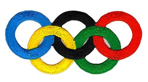 Patch Olympische Ringe Aufnäher Bügelbild 6 x 3 cm
