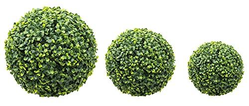 Sfera di Bosso Sintetica Palla Artificiale Buxus Arredamento da Giardino Colore Verde (38 cm)