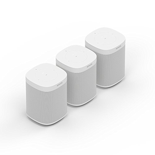 Sonos One Smart Speaker 3-Raum Set, weiß – Intelligente WLAN Lautsprecher mit Alexa Sprachsteuerung & AirPlay – Drei Multiroom Speaker für unbegrenztes Musikstreaming