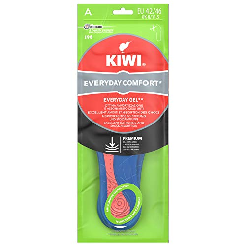 Kiwi Solette Gel Everyday Comfort, Solette Scarpe in Gel, per Uso Quotidiano, Taglia 42-46 EU, 1 Paio