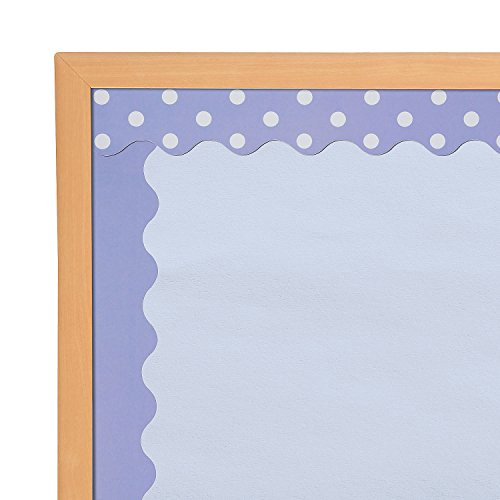 Fun Express Light Purple - 2 Sided Scalloped Border - 12 Pieces - Educational and Learning Activities for Kids
