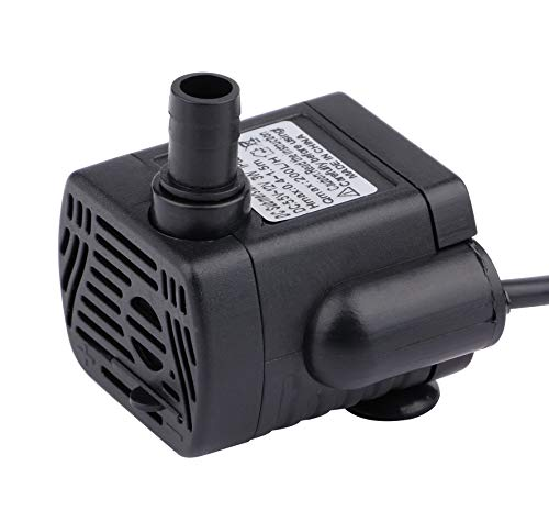 Driew 200L/H Mini Submersible Water Pump, DC 5.5-12V Brushless Waterproof Pumps for Pond Aquarium with 4.5 Feet Cord