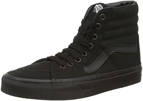 Vans SK8 Hi Canvas Unisex Adult Hi Top Sneaker Black Black 7 UK 40 5 EU product image