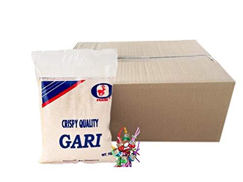 yoaxia ® - 12er Pack - [ 12x 1kg ] PRAISE Grobes Maniokmehl, Cassava Mehl, GARI, Kassava Mehl, glutenfrei + ein kleines Glückspüppchen - Holzpüppchen
