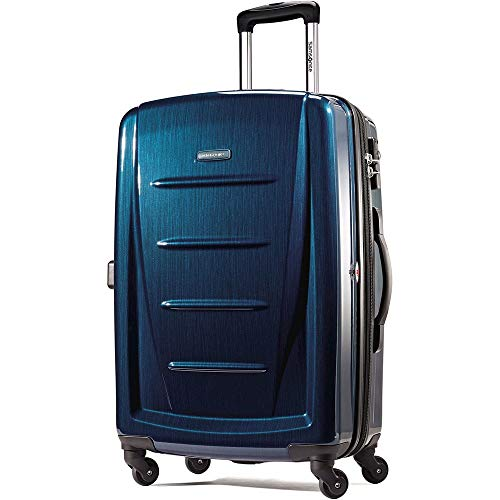Samsonite Winfield 2 Hardside Expandable Luggage with Spinner Wheels, Deep Blue, Checked-Large 28-Inch