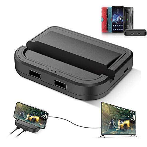 USB C-Kabel PUBG Mobile Game Tastatur Mauskonverter Adapter,Gaming Controller Gamepad mit HDMI USB 3.0-Anschluss zum Aufnehmen von Spielen 4k @ 144Hz Monitor TV,Kompatibel mit Android-Handys / Tablets